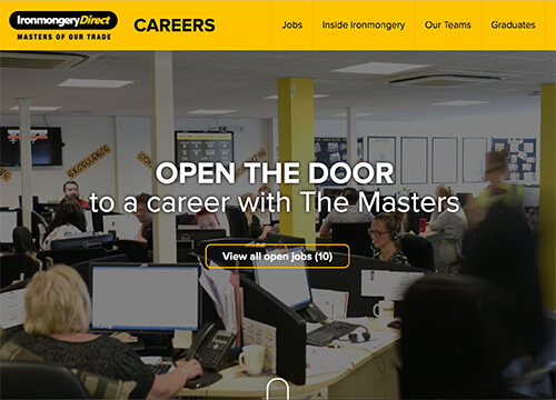 IronmongeryDirect Careers Website